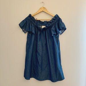 Anthropologie OTS Chambray Dress